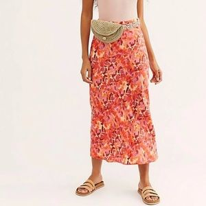 NWOT Free People maxi skirt bight colors sz 6